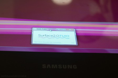 Using Surface2Tuio on a Microsoft Surface 2 tabletop system (aka Samsung SUR40).