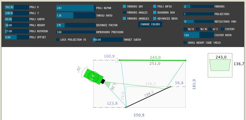 Screenshot of SimProj Application