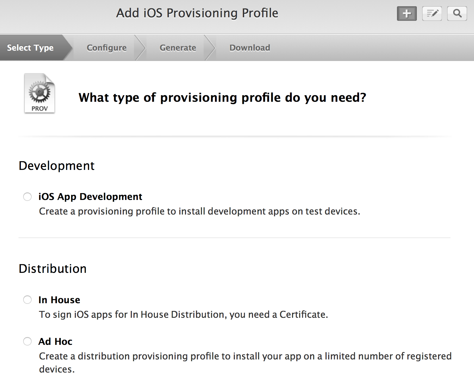 Provision ios ipa app for in house enterprise distribution apple ive just visited developerle and took a screenshot when creating a new provisioning profile on the enterprise account this is what it looked like 1betcityfo Image collections